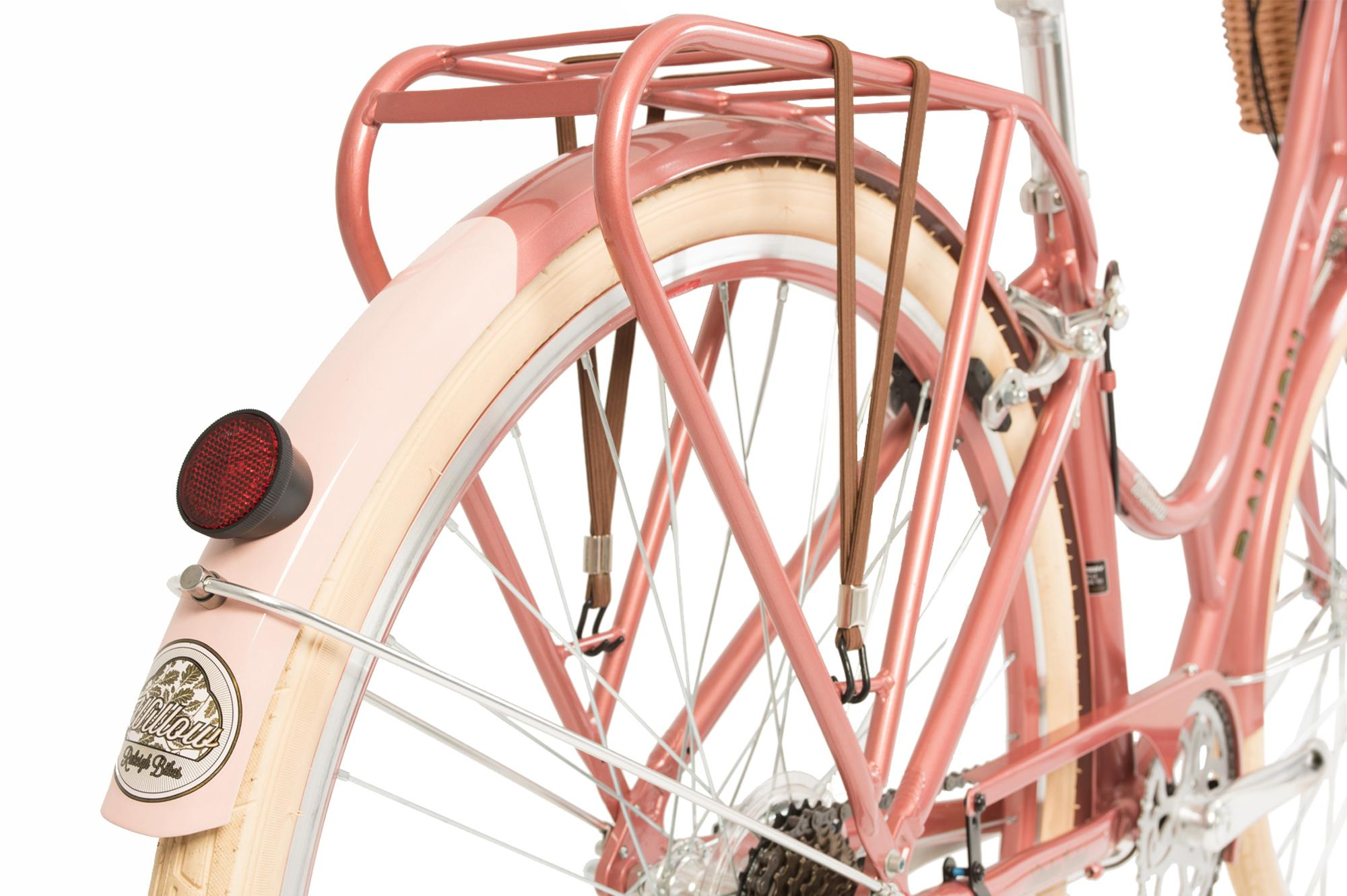Rear mudguard and luggage rack on the Raleigh Willow classic ladies bike