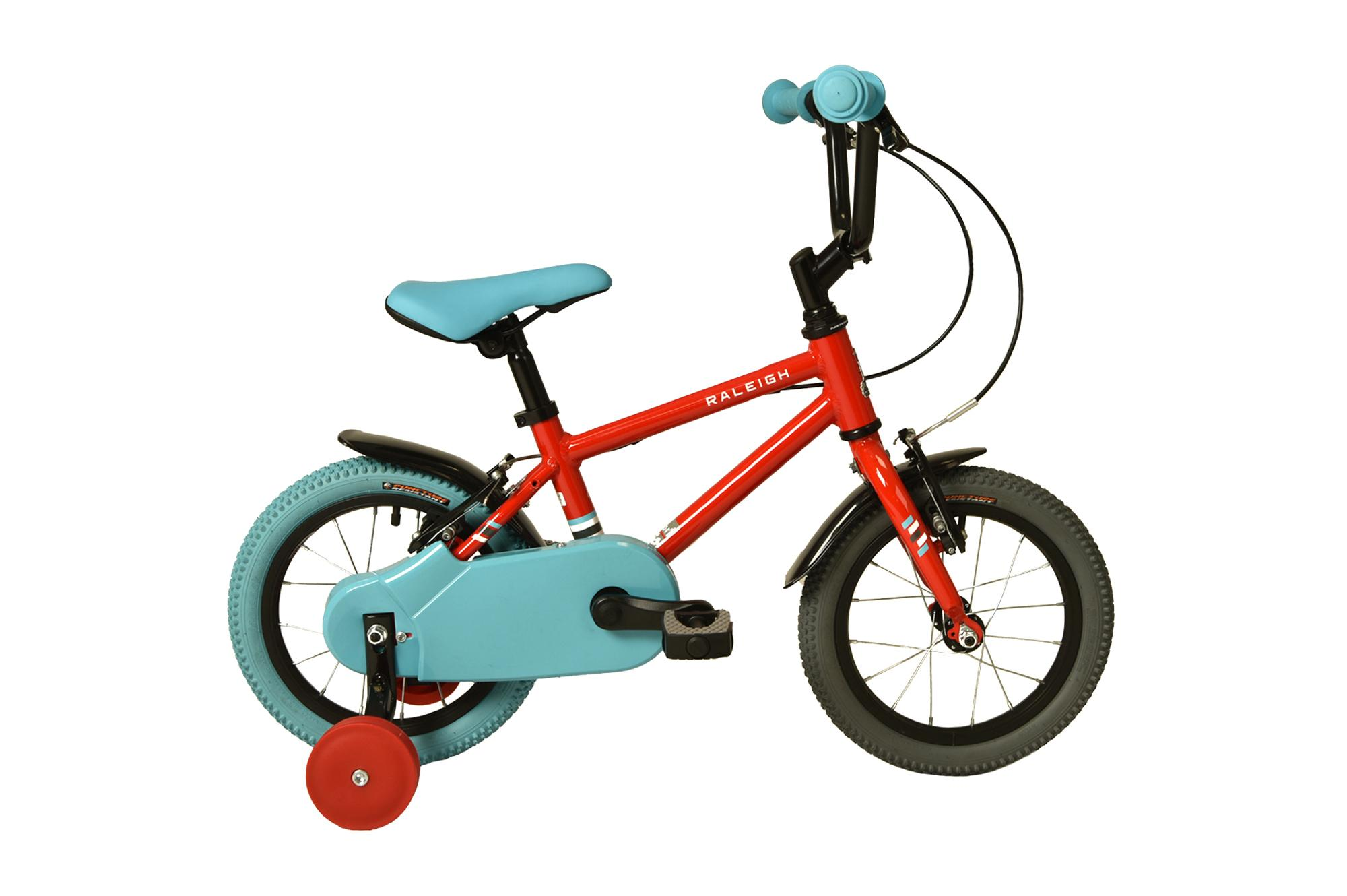 Raleigh Pop 14 inch kids bike with stabilisers  in red