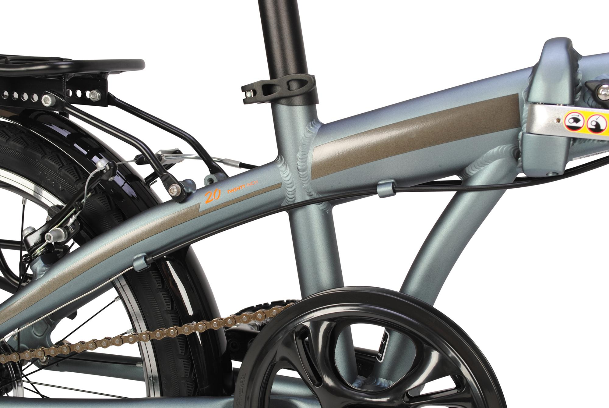 Drivetrain on the Raleigh Stowaway folding bike
