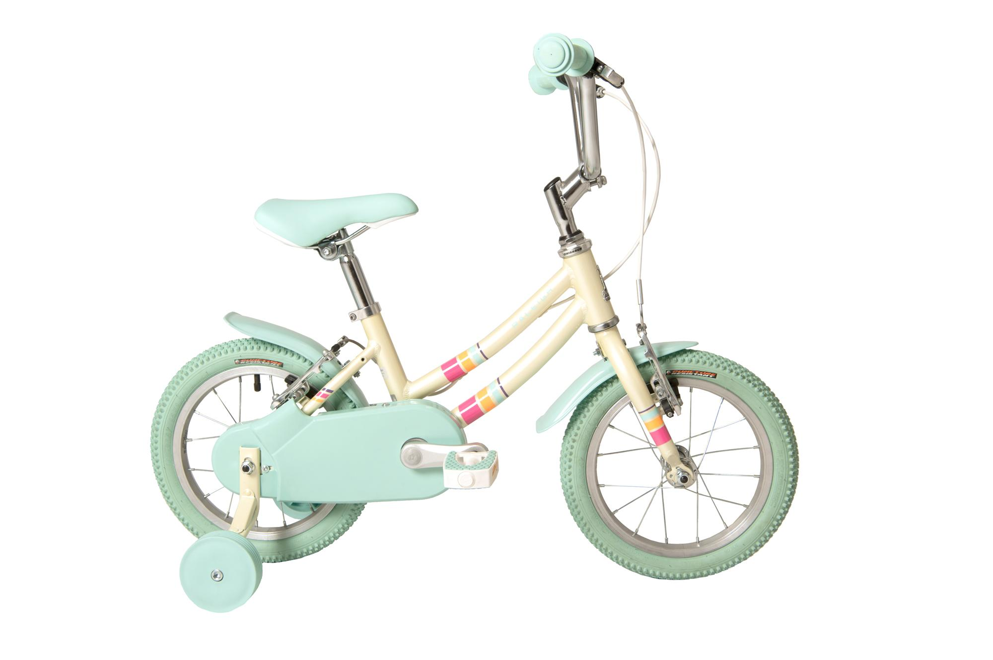 Raleigh Pop 14 inch kids bike for girls with stabilisers in white