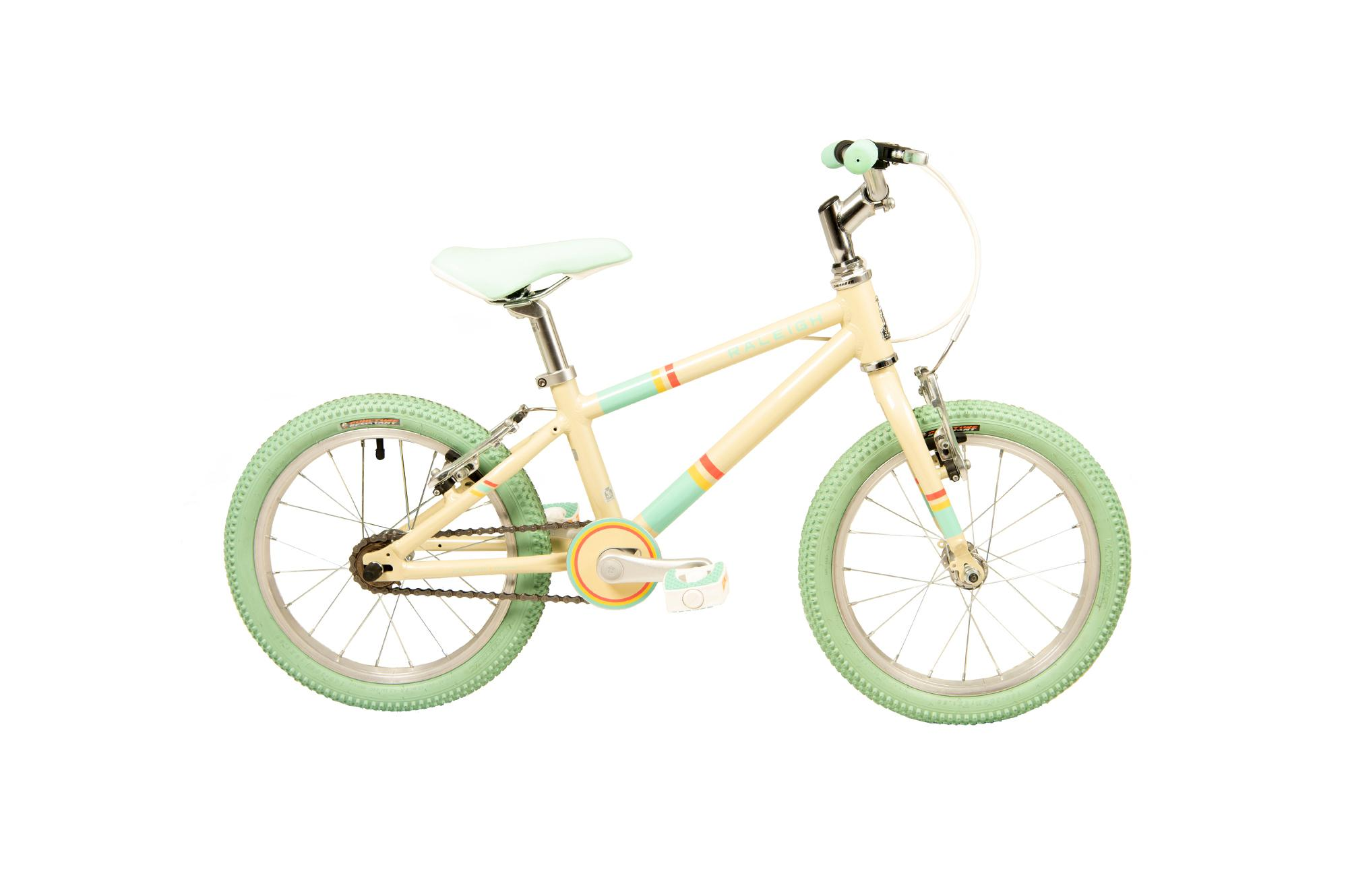 Raleigh Pop 16 inch kids bike in cream colour
