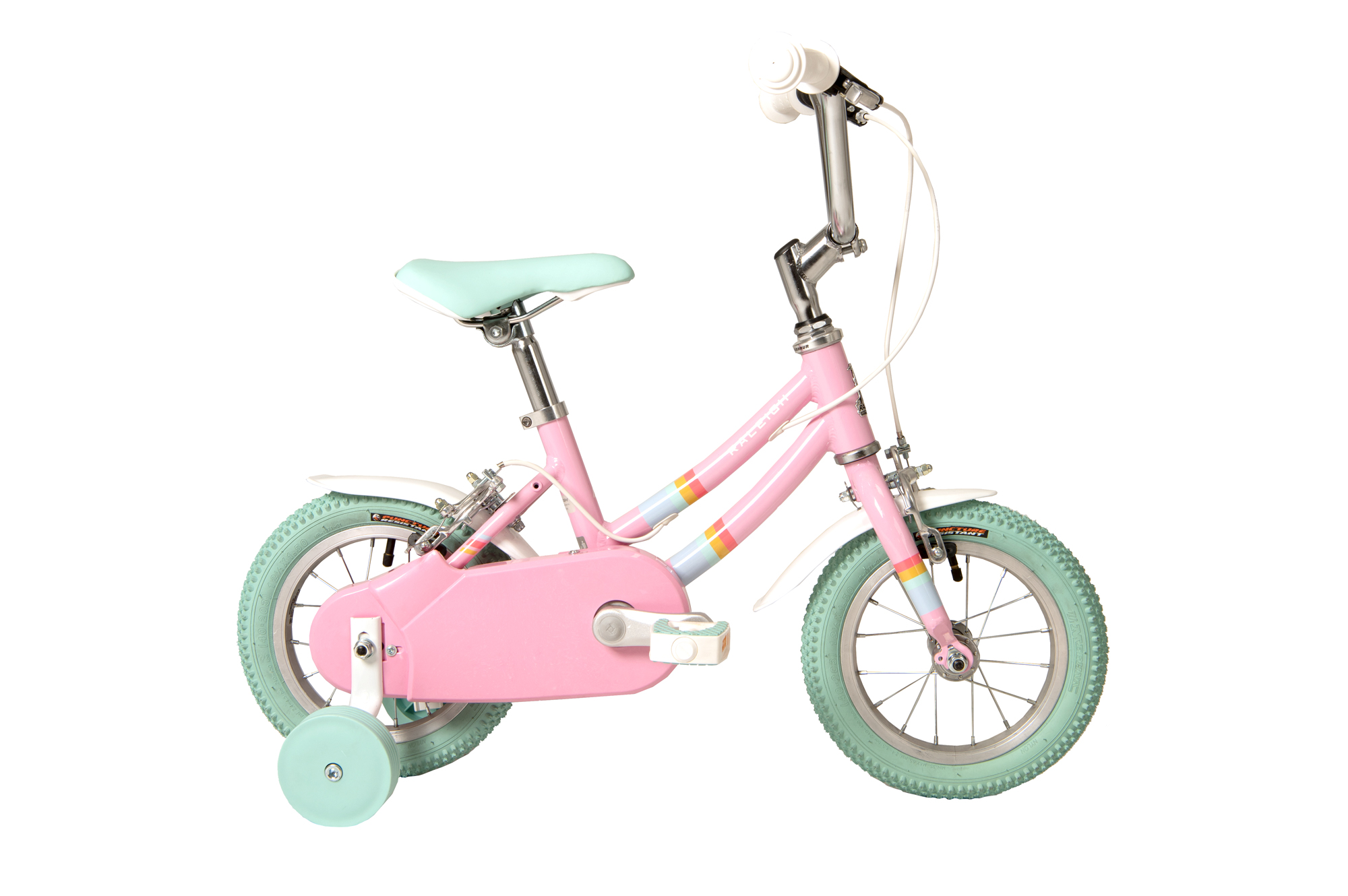 Raleigh Pop 12 inch kids bike for girls with stabilisers