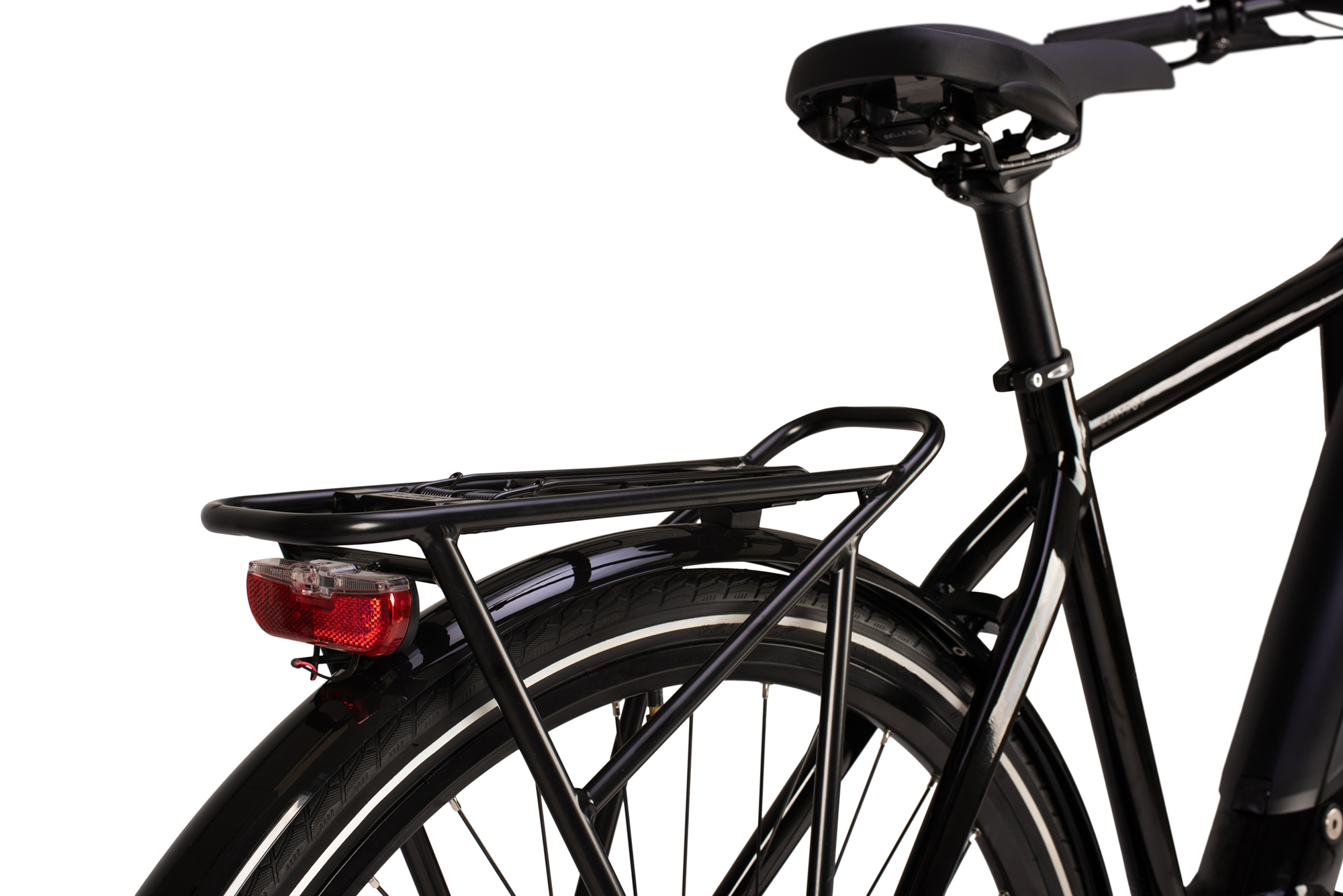 Rear luggage rack on the Raleigh Array Tour electric bike