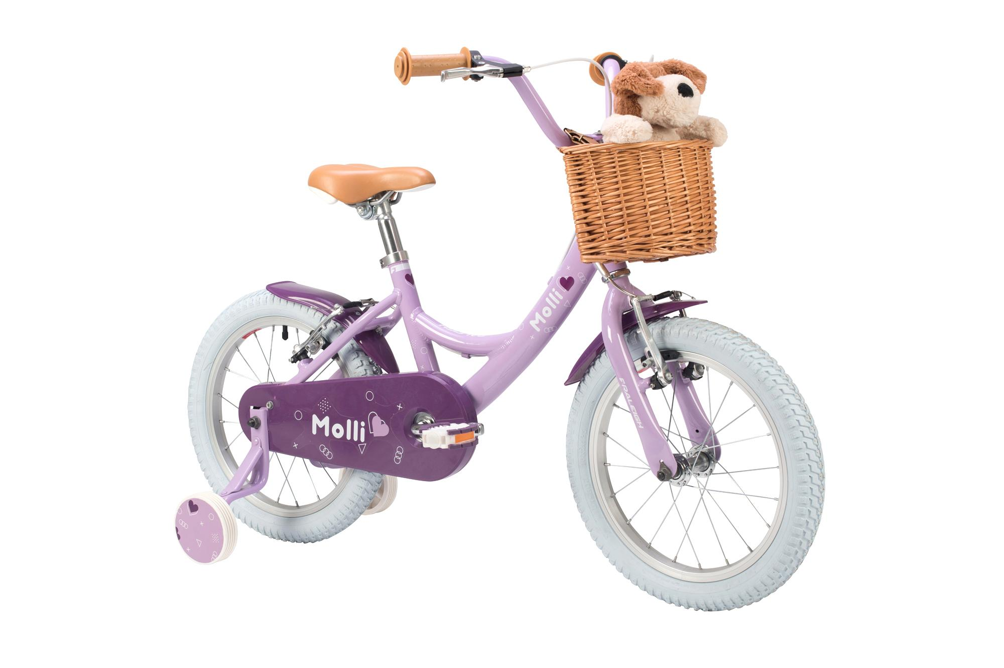 Raleigh Molli 16 inch kids girls bike with stabilisers