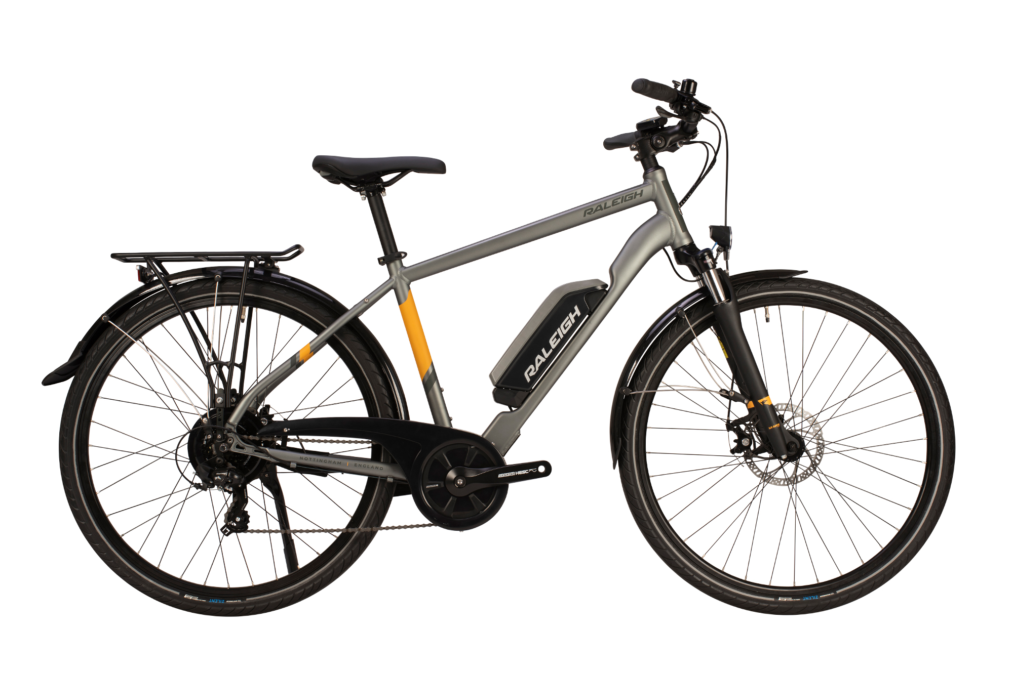 Raleigh Array electric bike with crossbar frame
