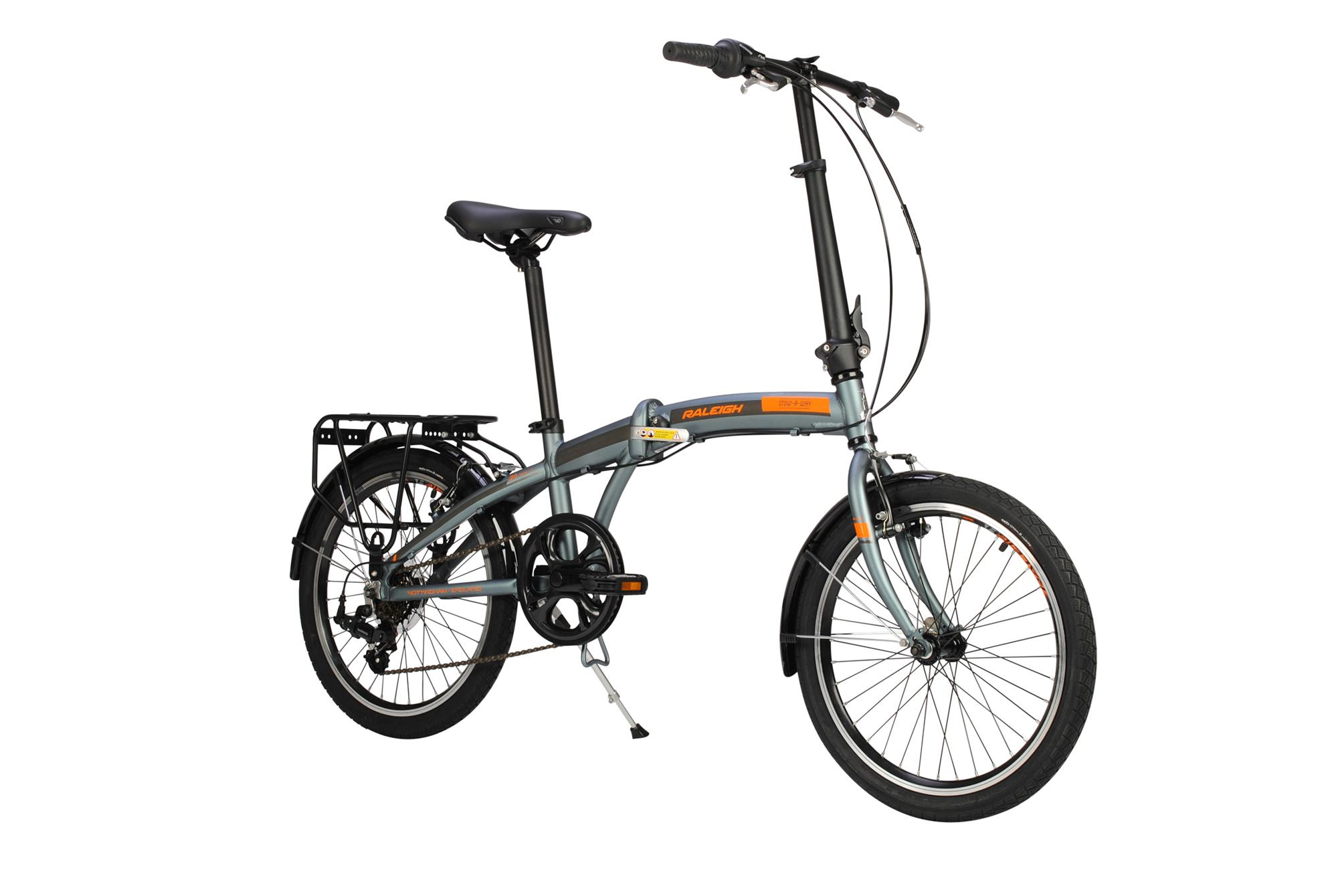 Front view of the Raleigh Stowaway folding bike