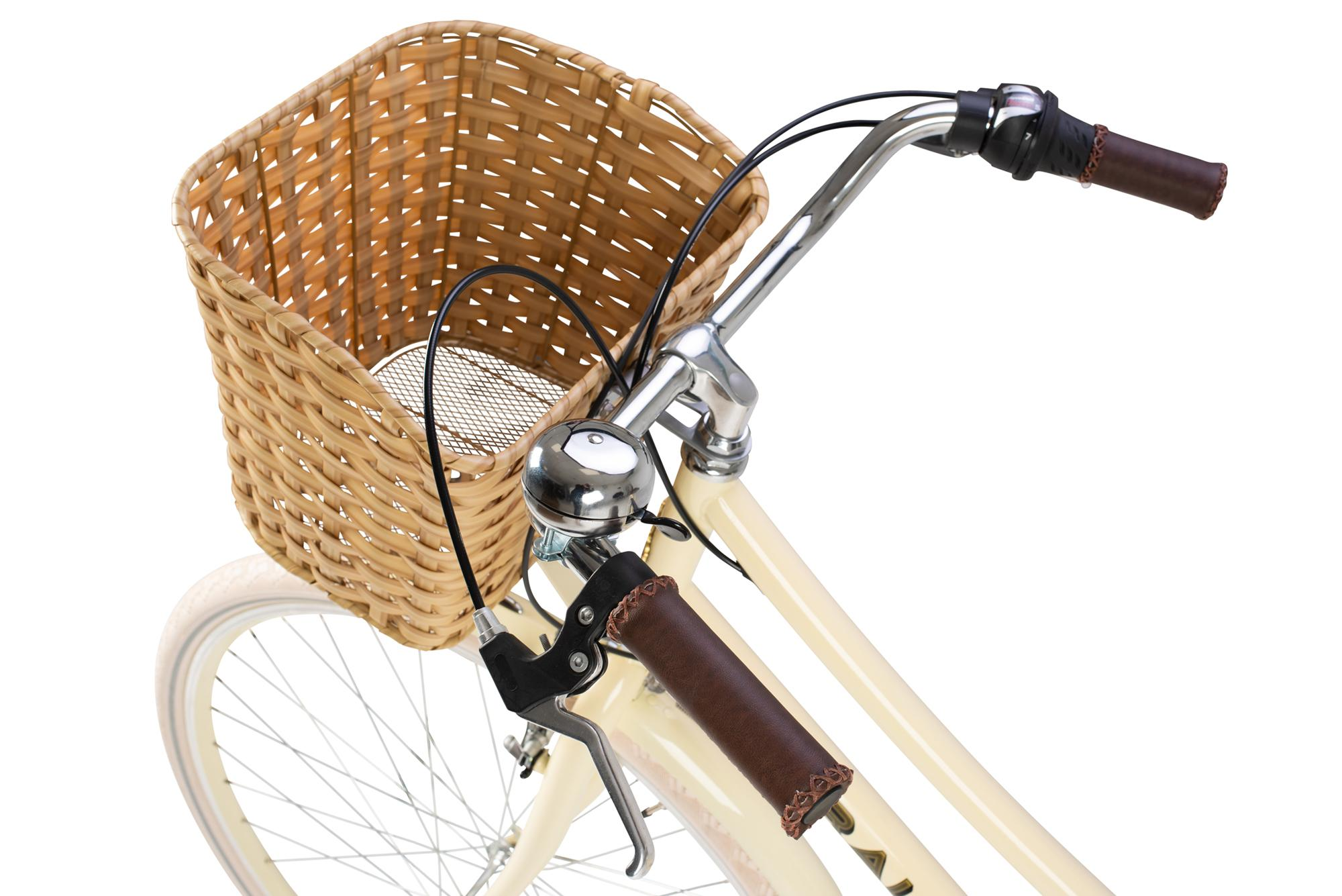 Basket and handlebars on the Raleigh Sherwood classic ladies bike