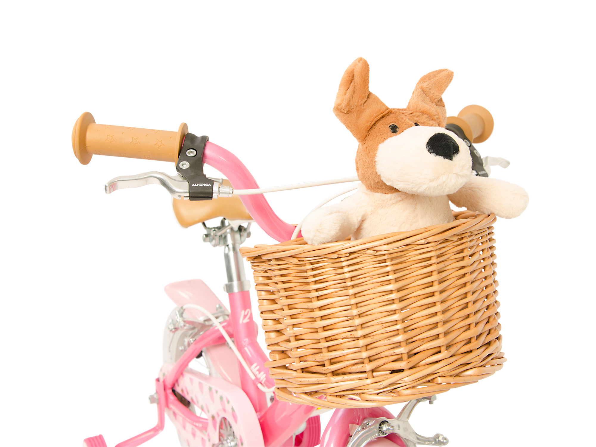 Raleigh Molli Pink Handlebars view from front