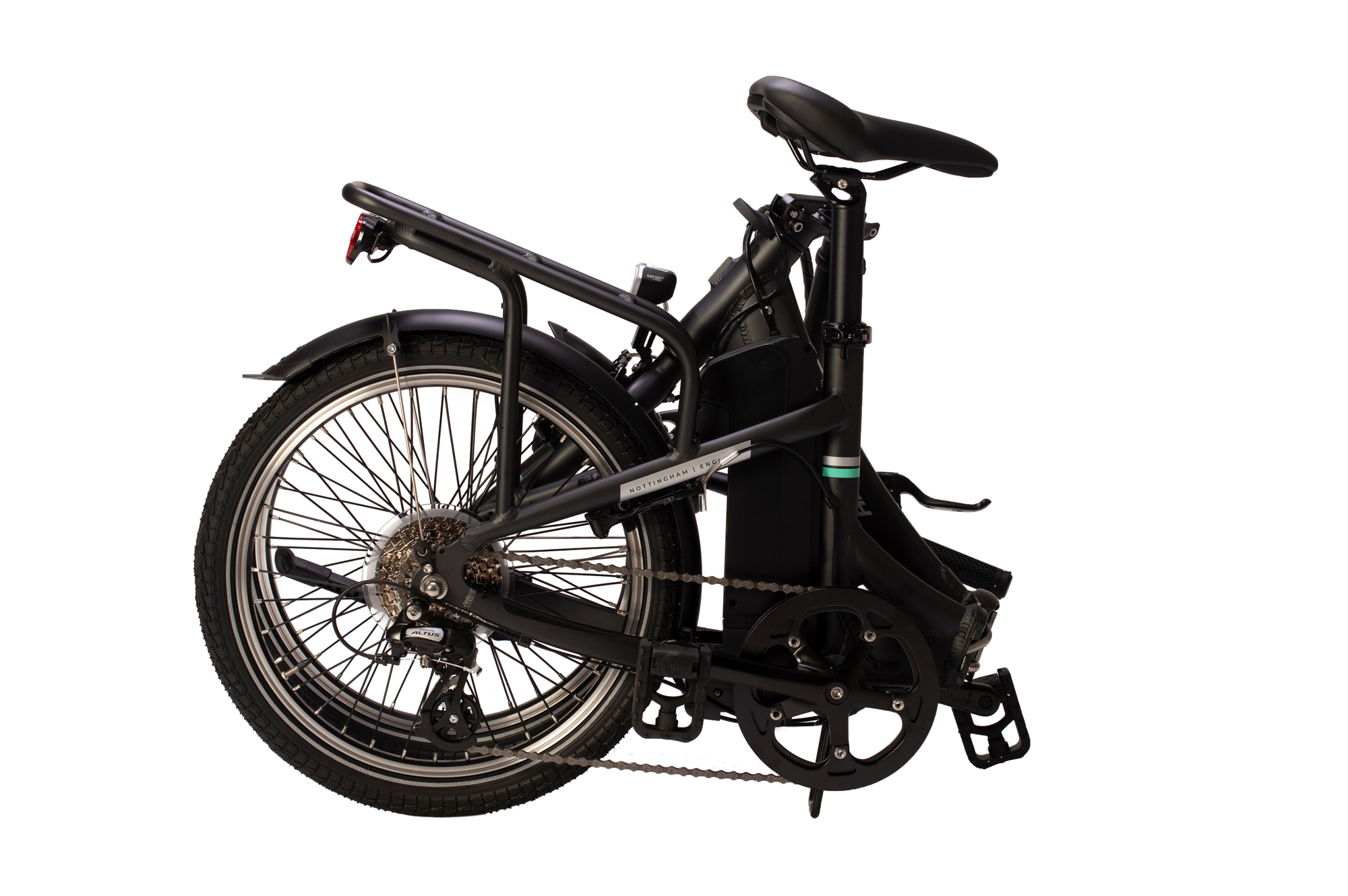 Folded Raleigh Stow-E-way folding electric bike
