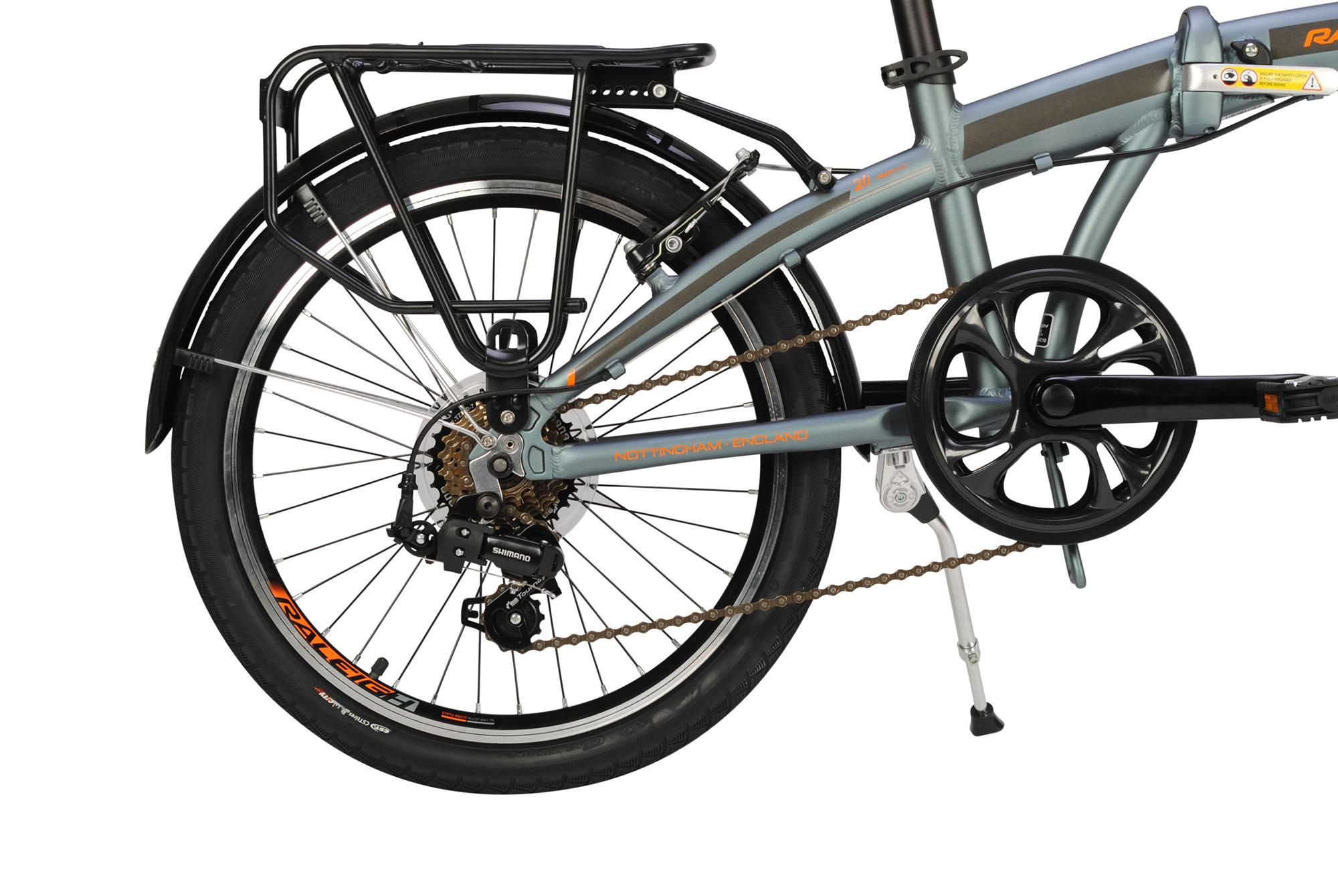 Luggage rack on the Raleigh Stowaway folding bike