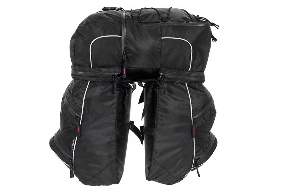 Triple pannier bike bag