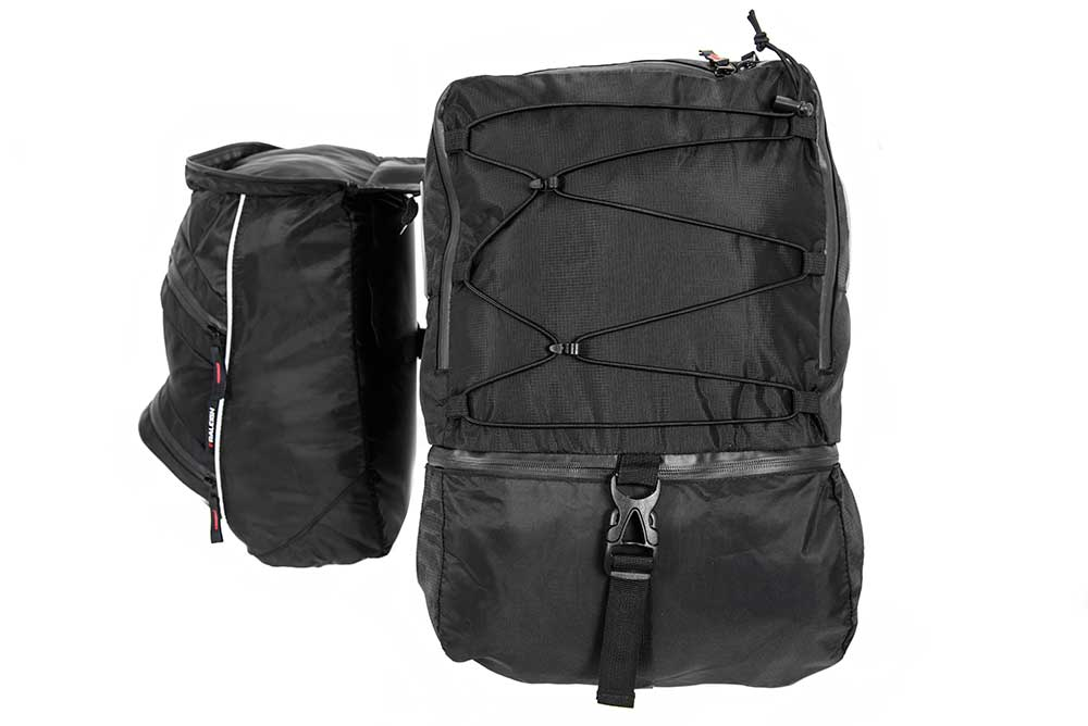 Triple pannier bike bag set