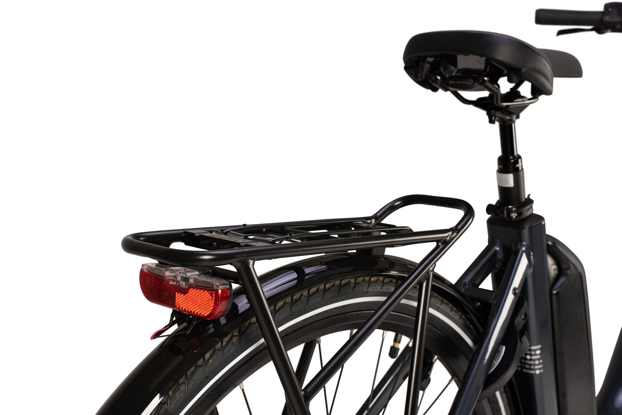 Rear luggage rack on the Raleigh Motus low step electric bike