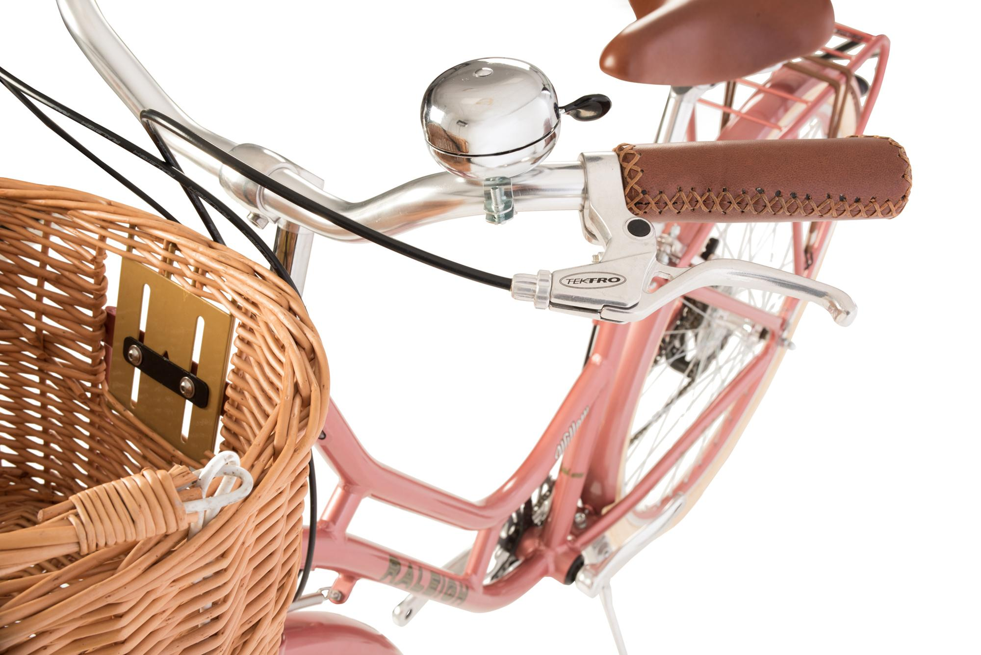 Bell and handlebars on the Raleigh Willow classic ladies low step bike