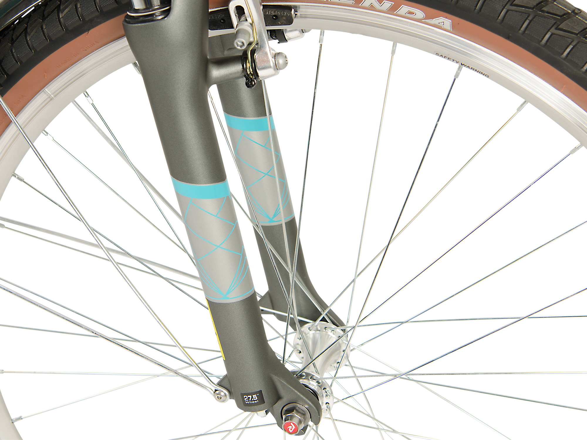 Raleigh Pioneer Trail Lowstep front wheel closeup