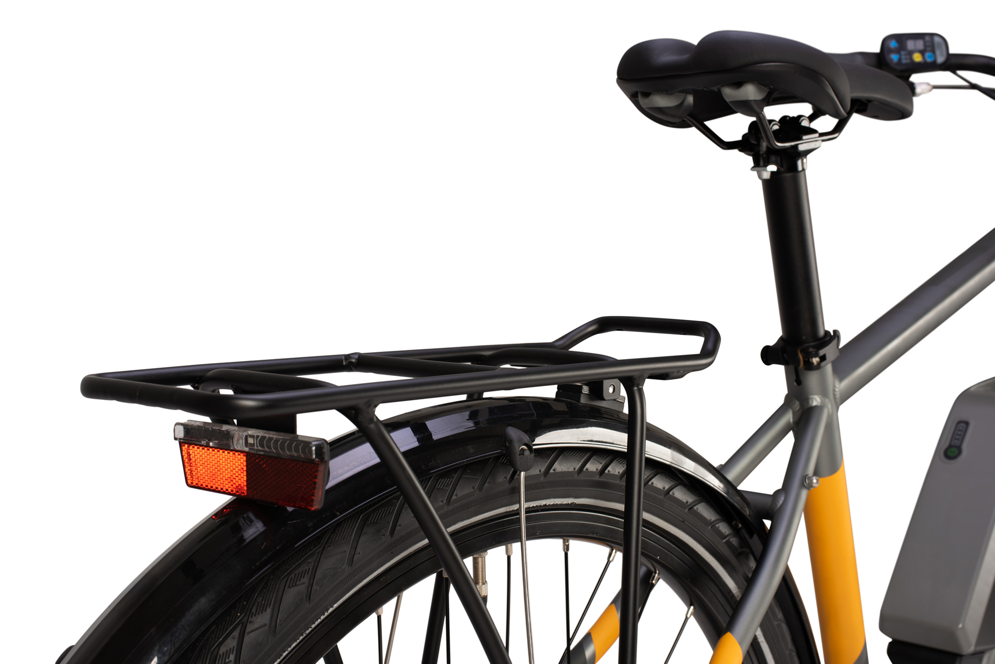 Rear luggage rack on the Raleigh Array electric bike