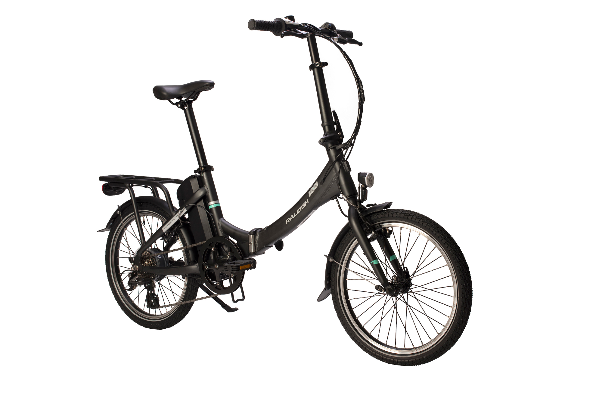 Front view of the Raleigh Stow-E-way folding electric bike