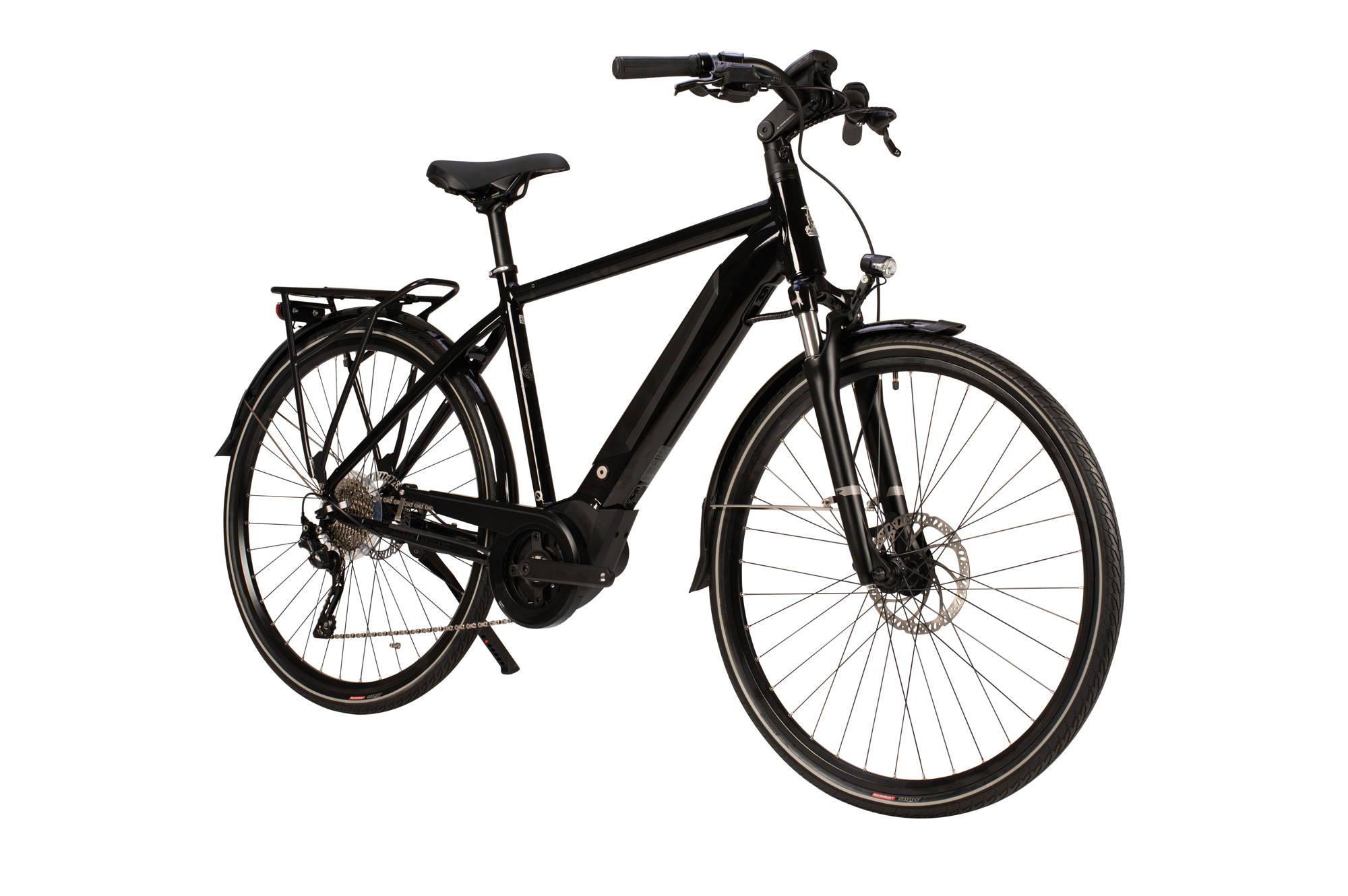 Front view of the Raleigh Centros Tour electric bike