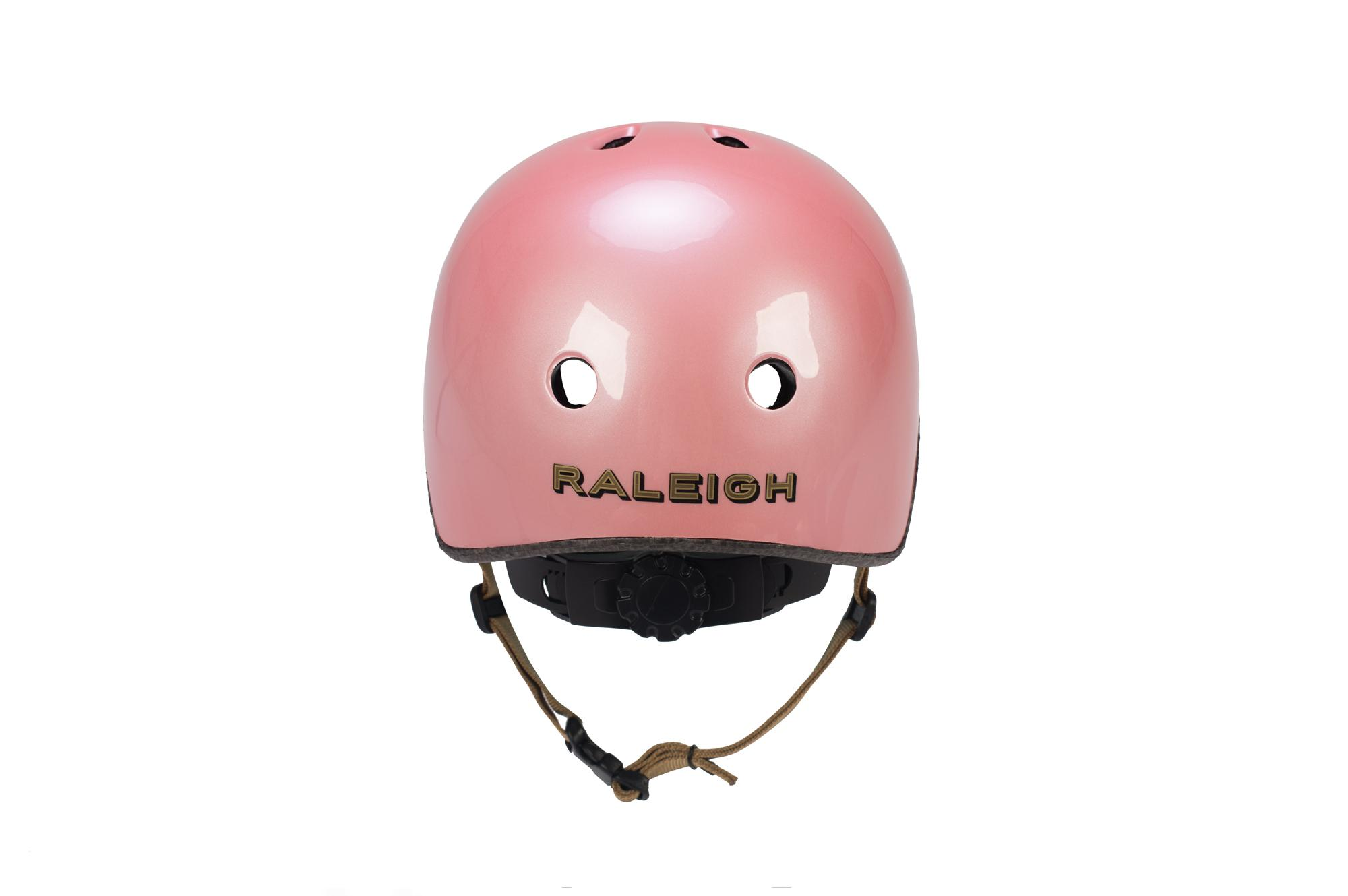 Rear view of the Raleigh Sherwood kids bike helmet