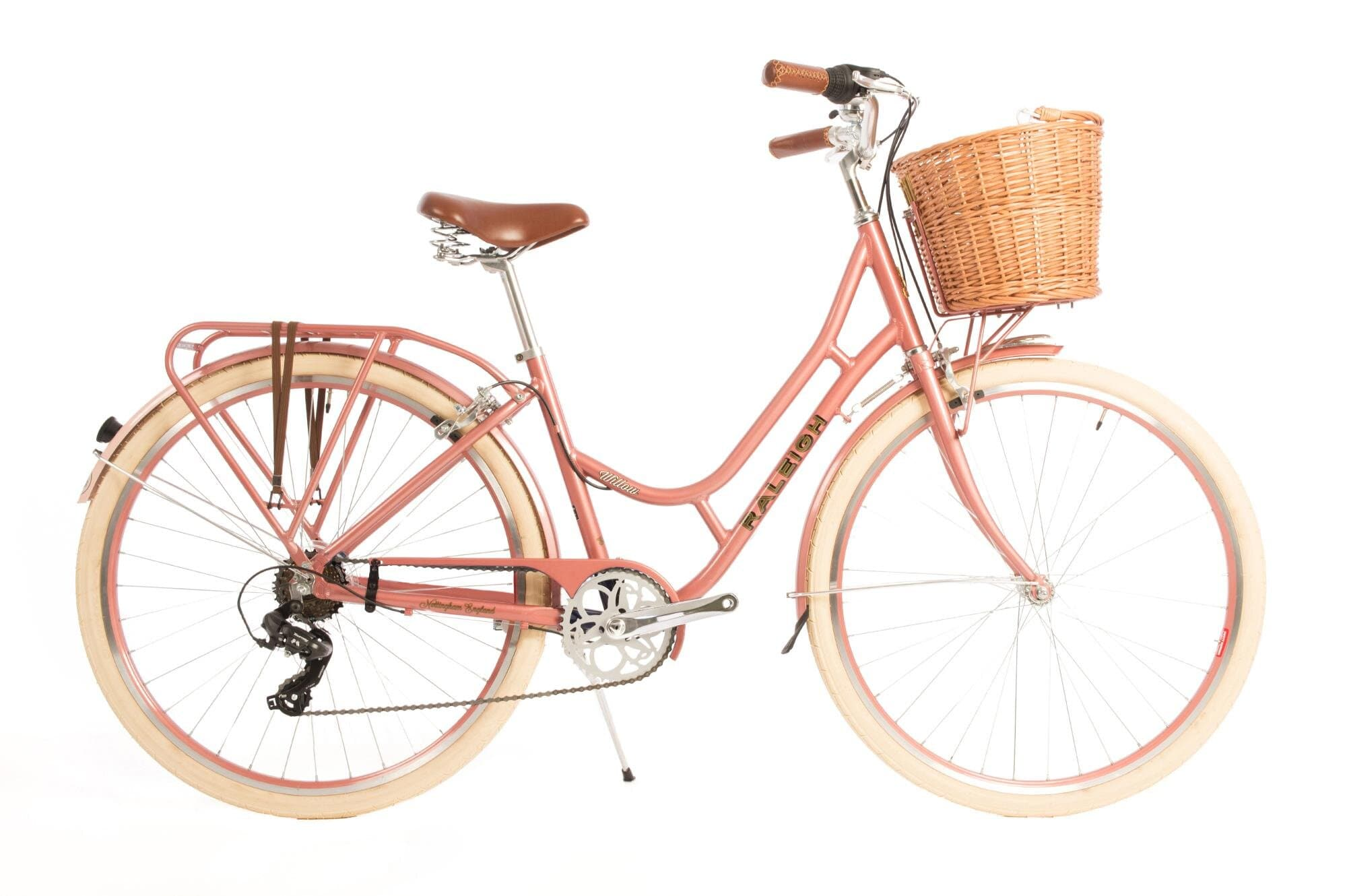 Raleigh Willow classic low step ladies bike in pink