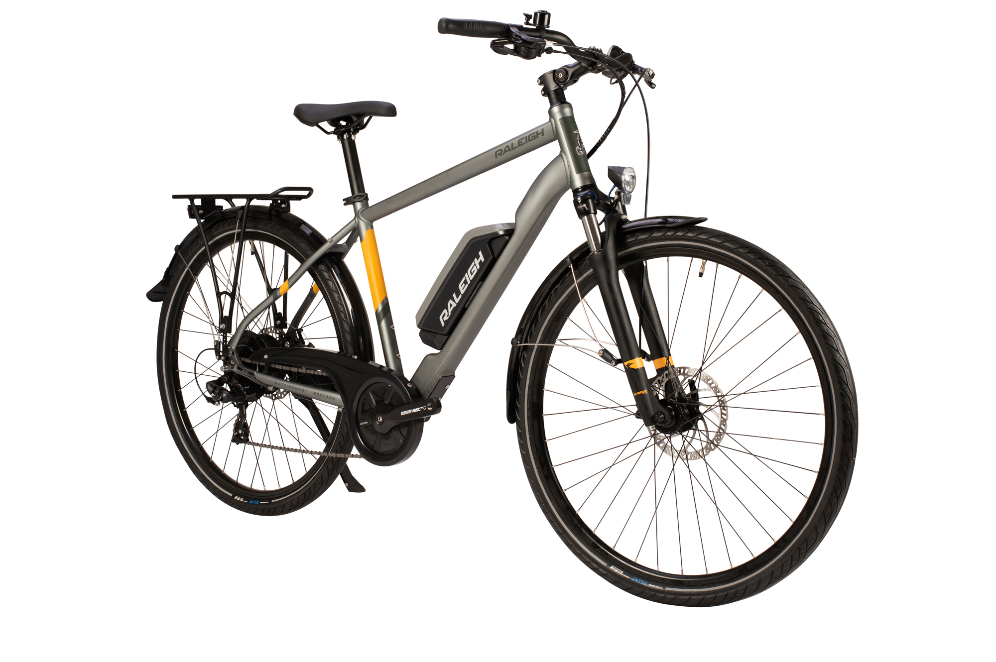 Front view of the Raleigh Array electric bike