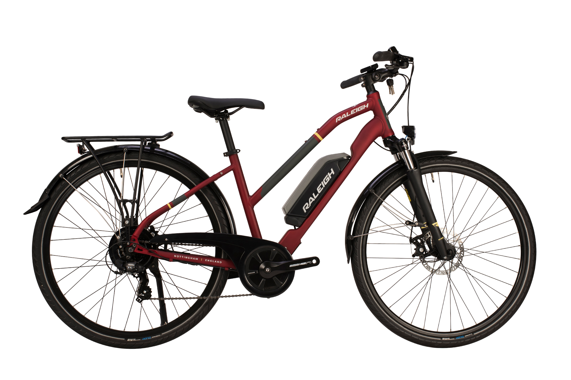 Raleigh Array electric bike with open frame