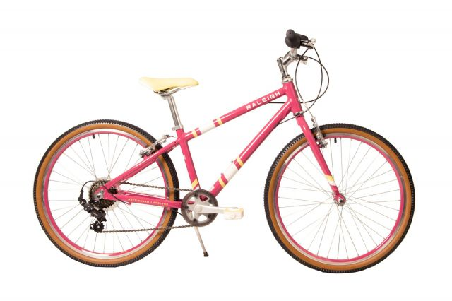 Raleigh Pop 24 inch kids bike in cherry colour