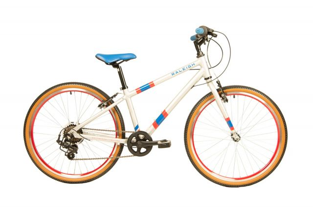 Raleigh Pop 24 inch kids bike in white colour