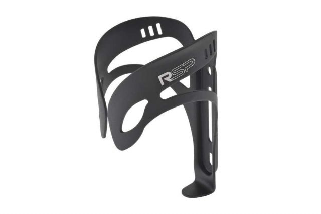 Black alloy bike bottle cage