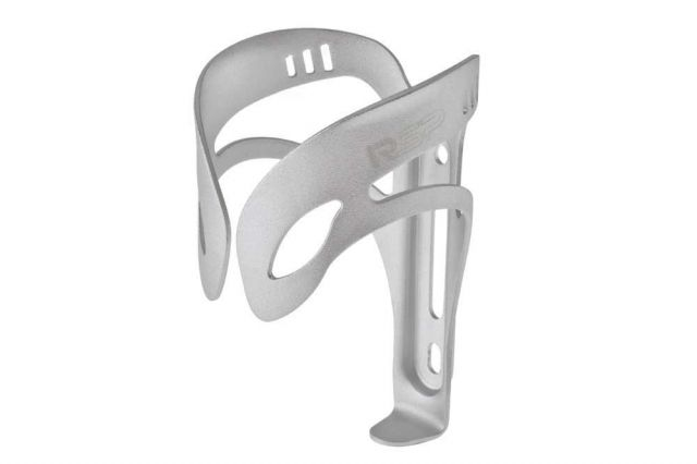 Silver bike bottle cage