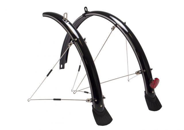 Black reflex bike mudguard