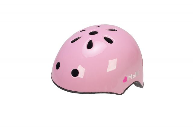 Raleigh Molli Childrens bike helmet in colour pink