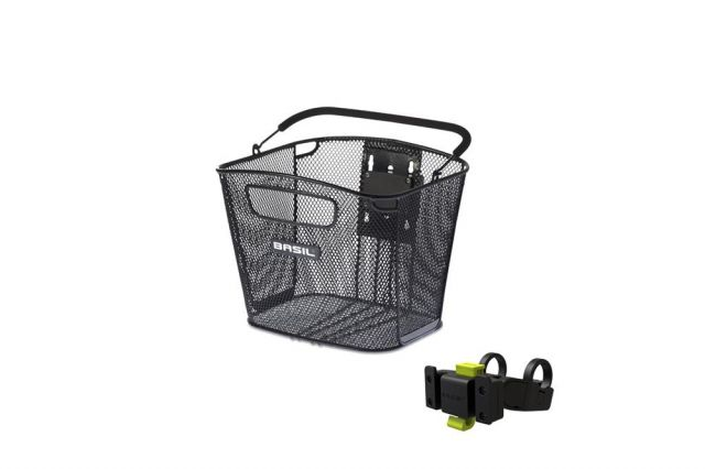 Basil bold front bike basket with Klickfix holder